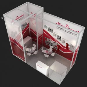 AW show booth 3D view